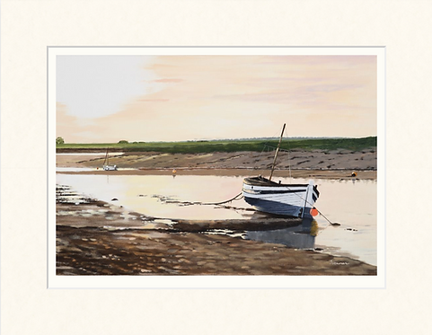 Natalie Gail at low tide - mounted print