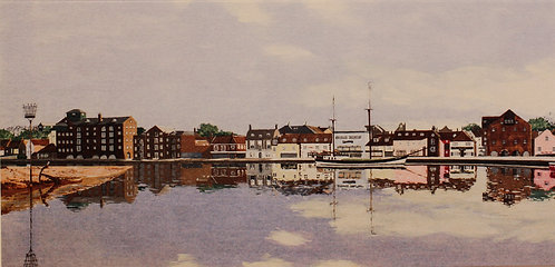 """""""Wells  Quay with the new Maltings"""""""