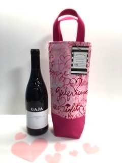 Be my girlfriend? Valentine Wine Tote