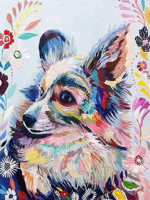 """Картина по номерам """"Цветочный пес"""" 40х50 см"""