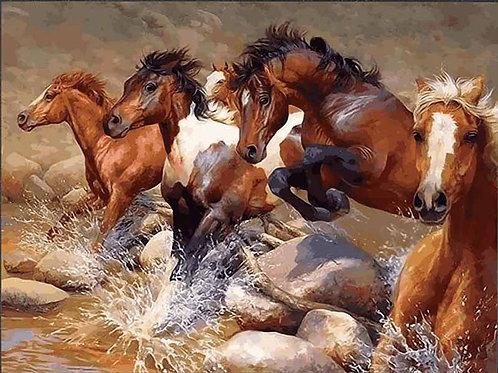 "Картина по номерам ""Табун лошадей"" 40х50 см"