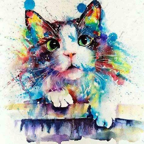 """Картина по номерам """"Акварельный кот"""" 40х50 см"""
