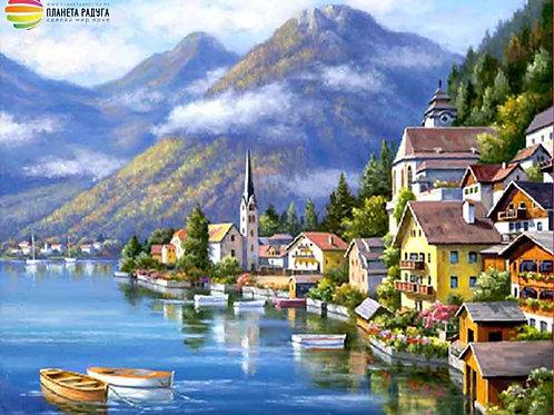 "Картина по номерам ""Хальштадт. Австрия"" 40х50 см"