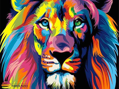 """Картина по номерам """"Радужный лев"""" 40х50 см"""