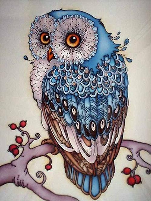 "Картина по номерам ""Синяя сова"" 40х50 см"
