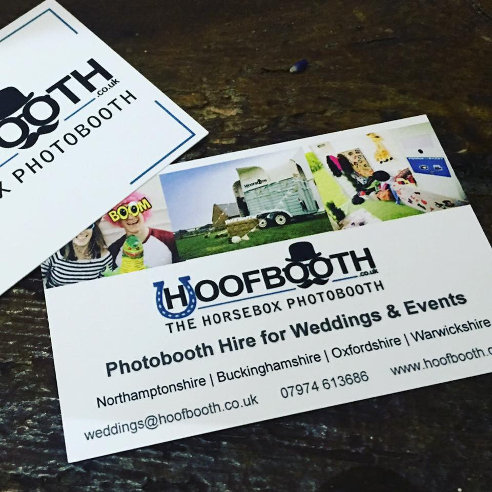 Horsebox wedding photobooth business cards