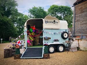 Laura & Josh - The Tudor Barn Horsebox Photobooth