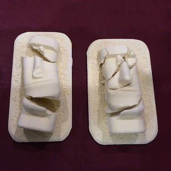 Broken Easter Island Heads