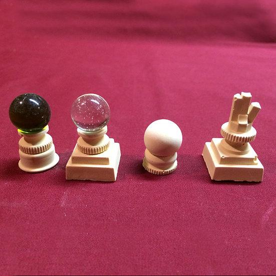 4 plinths plus globes
