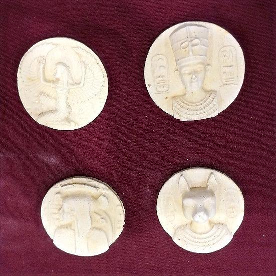 Egyptian Medallions - four