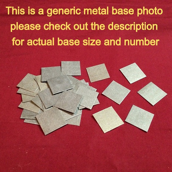 20 mm X 30 mm Metal bases