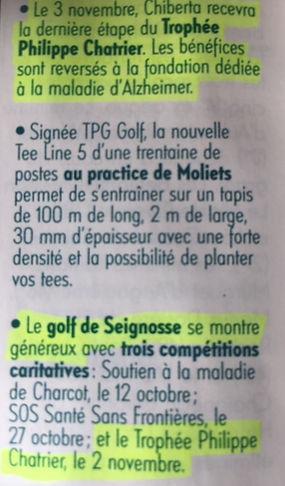 TPC 2019 Annonce Golf Magazine Seignosse