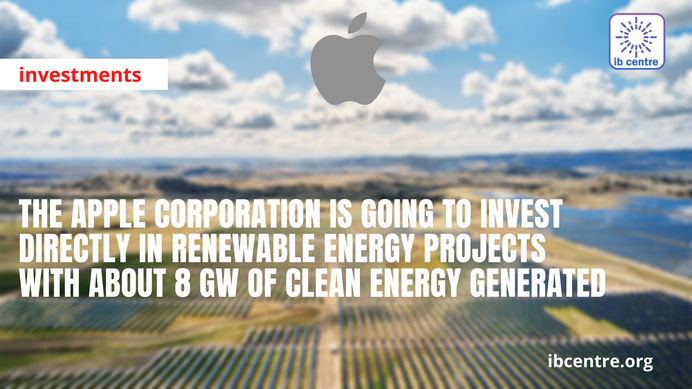 Apple Announces Transfer to Renewable Energy Sources for Its 110 Suppliers