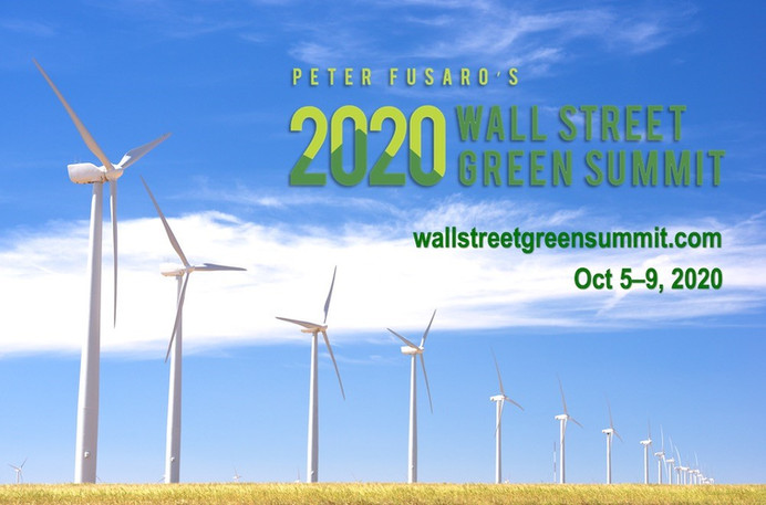 The virtual 19th annual Wall Street Green Summit will be held on October 5-9