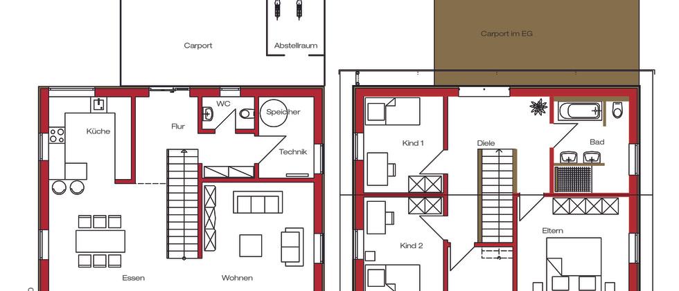 Holzbau Biber Einfamilienhaus