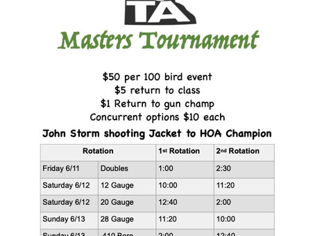 Minnesota Masters tournament at Minneapolis Gun Club