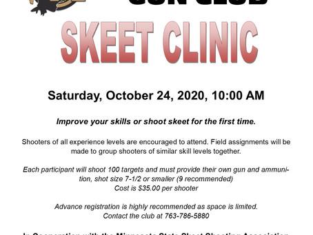 Skeet Clinic at Metro Gun Club 10/24 @ 10:00am