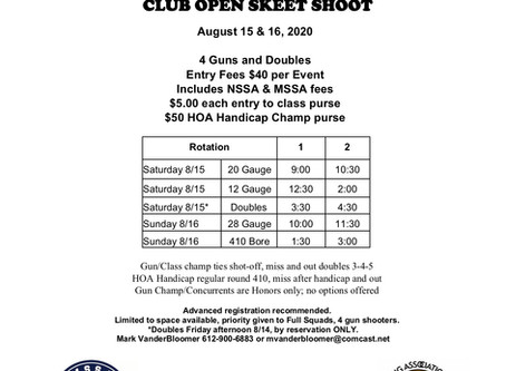 Minnetonka Game and Fish Club Open Program
