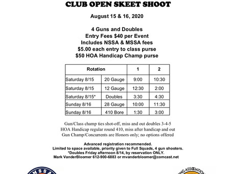 Minnetonka Game and Fish Club Open Program