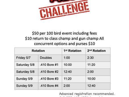 Vern Aanenson Memorial: .410 Challenge--- NEW FORMAT---   Less than a month away!