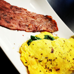 Spinach Omelet &Turkey Bacon
