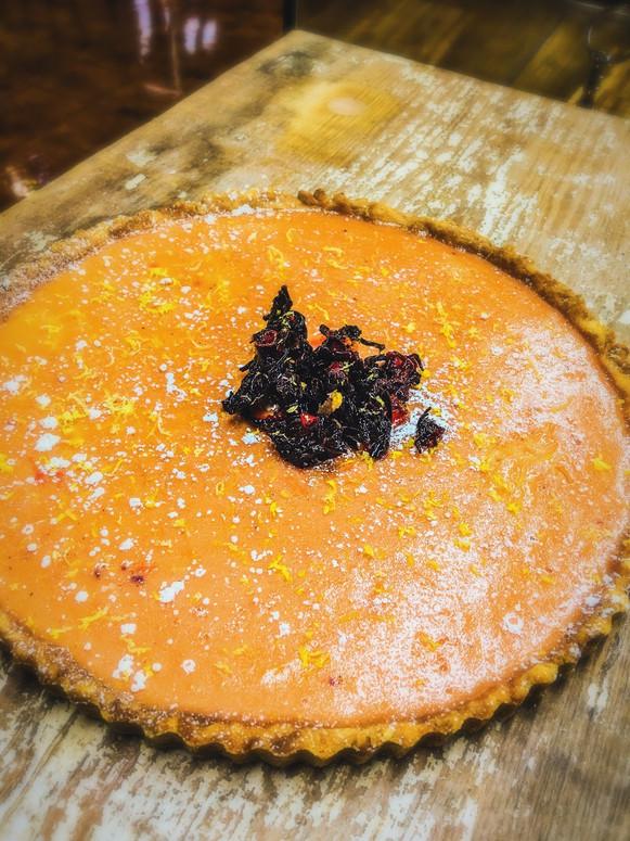 Lemon Hibiscus Tart