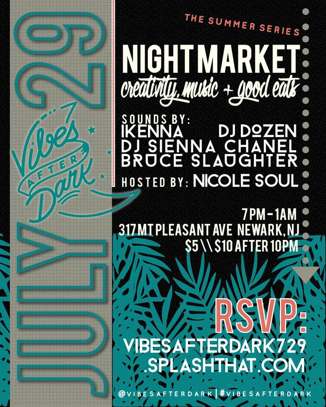 Join us tonight at the night Market