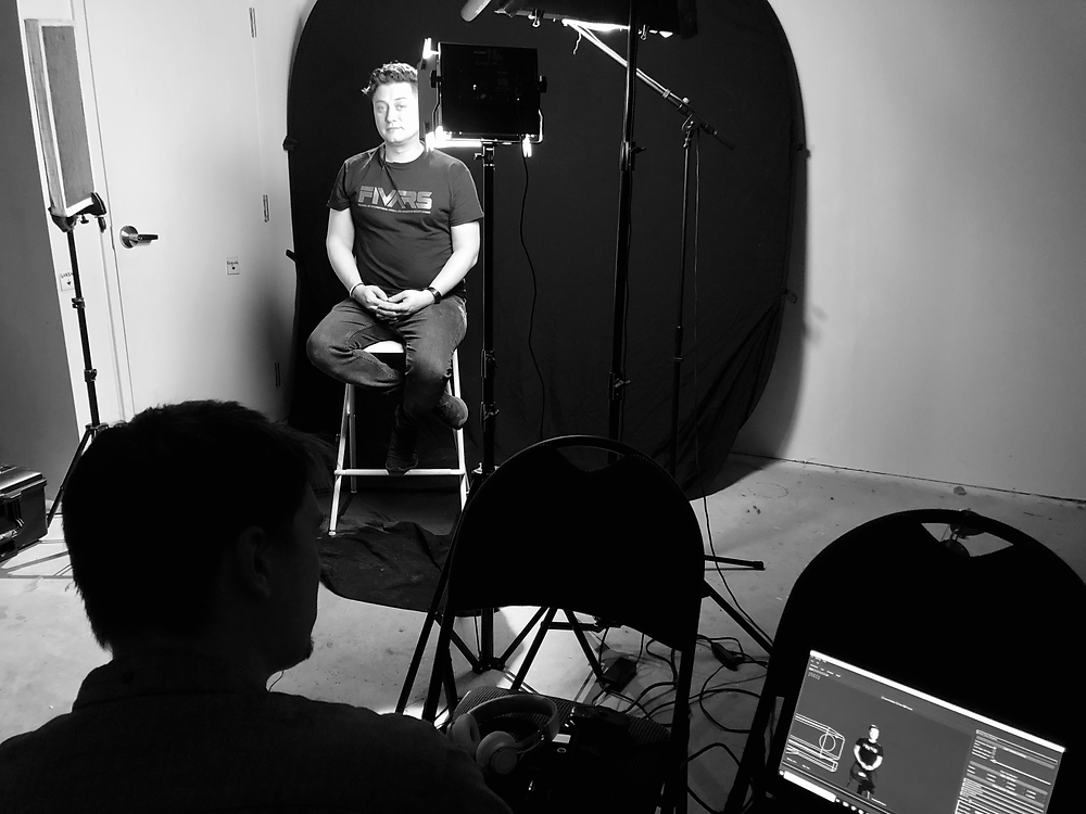Interviewing Keram Malicki-Sánchez, founder of FIVARS, using stereoscopic volumetric capture tech