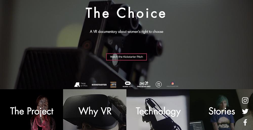 The Choice VR Website