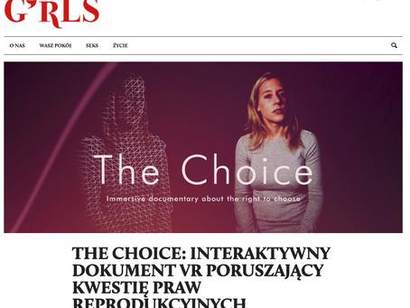 Girls Room: The Choice - interaktywny dokument VR poruszający kwestię praw reprodukcyjnych.