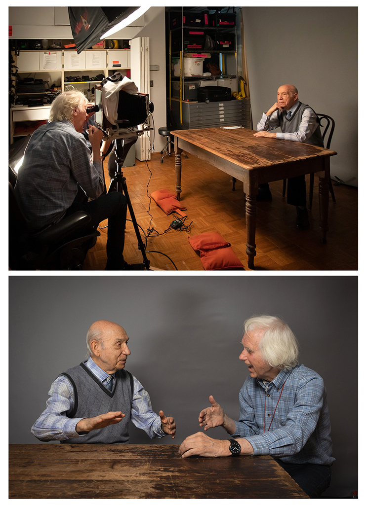 Douglas Kirkland with David Lenga