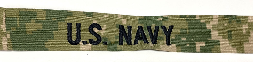 NWU Type 3 Navy Digital Green Name Tape