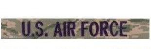Air Force Multicam Name Tape