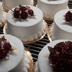 rose and gold anniversary cakes.jpg