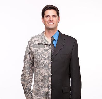 Veteran Soldier _ Young man with split c