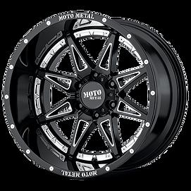 moto metal mo993 hydra gloss black mille