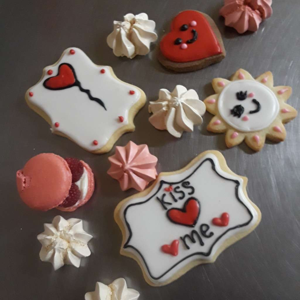 sweet valentine's day cookies