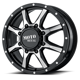 moto metal mo995 gloss black machined