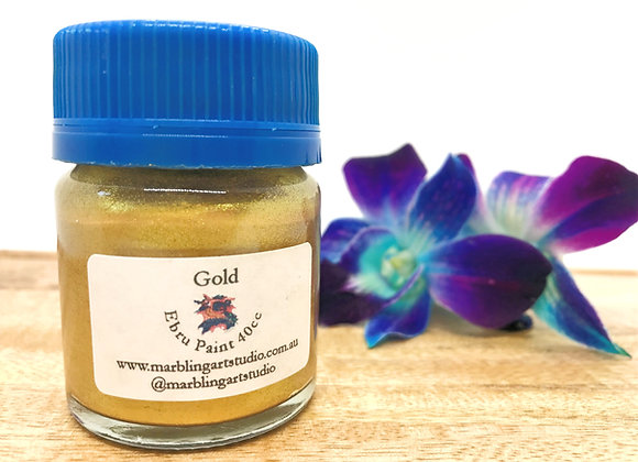 Gold Ebru Paint - 40cc