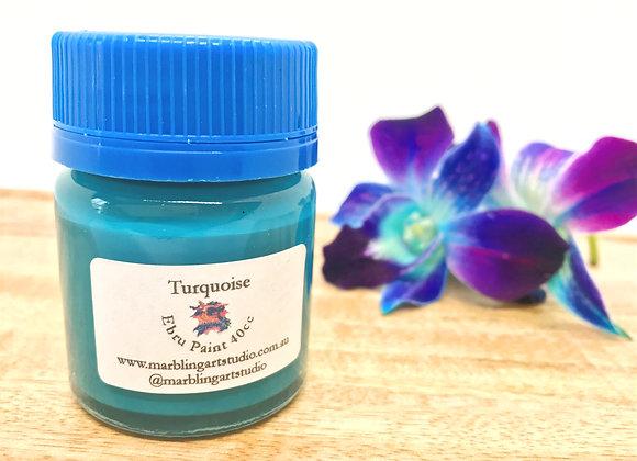 Turquoise Ebru Paint - 40cc