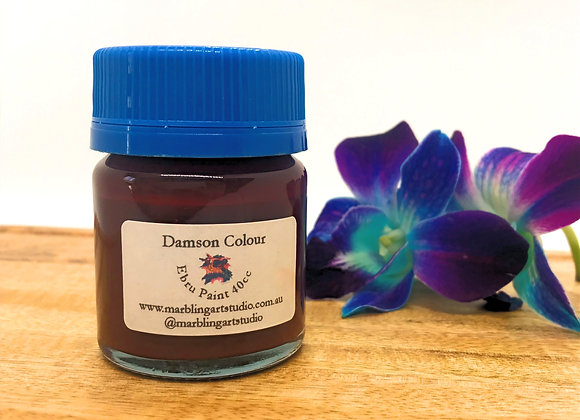 Damson Color Ebru Paint - 40cc