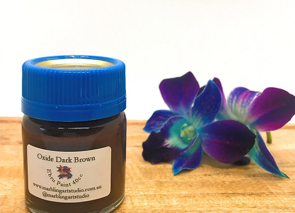 Oxide Dark Brown Ebru Paint - 40cc