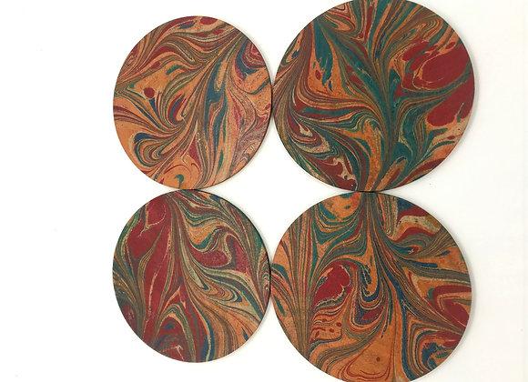 Marbled Coaster set (pack of 4)