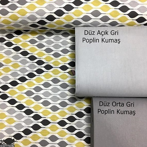 Ürün No: A328541705 Art Drops Desenli Poplin Kumaş (Nevresim)