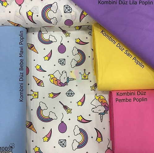 Ürün No: 32854696 Unicorn Desenli Poplin