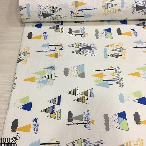 Ürün No: 32853723 Minik Yerli Çadırları Orman Desenli Poplin