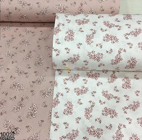 Ürün No: A32853831  Minik Kiraz Çiçekleri Desenli Poplin