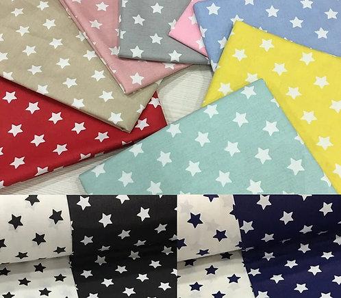 Ürün No: A32853907 Yıldız Desenli Pamuk Poplin Kumaş