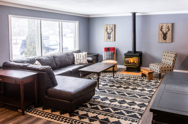 Living Room in Rustic Chalet
