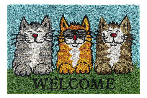 1471402749 RUCO PRINT WELCOME CATS 40 X 60